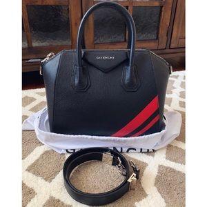 Givenchy Small Antigona Striped Leather Satchel